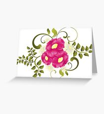 Flower background design Greeting Card