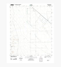 USGS TOPO Map Arizona AZ Utting 20111025 TM Photographic Print