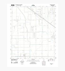 USGS TOPO Map Arizona AZ Stanfield 20111022 TM Photographic Print