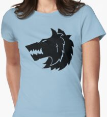 Frost Wolf Womens Fitted T-Shirt