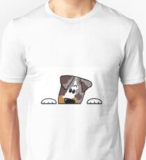 CLD peeking red merle Unisex T-Shirt