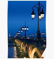 Pont Sur la Garonne, Bordeaux Poster