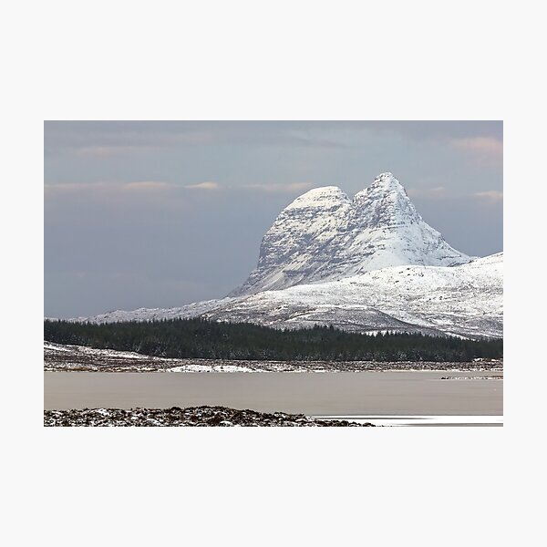 Suilven in Winter Photographic Print