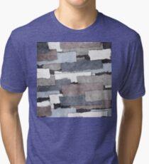 Textured Gray Layers Tri-blend T-Shirt