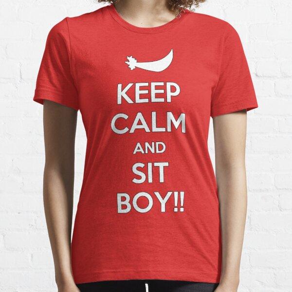 ¡Mantenga la calma y siéntese MUCHACHO! Camiseta esencial