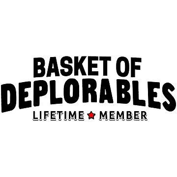 Basket of Deplorable lifetime star member black by MillerHemsworth