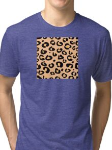 Leopard seamless texture. Animal skin background Tri-blend T-Shirt