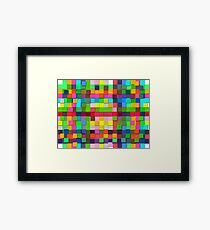 Colorful vector sticky notes Framed Print