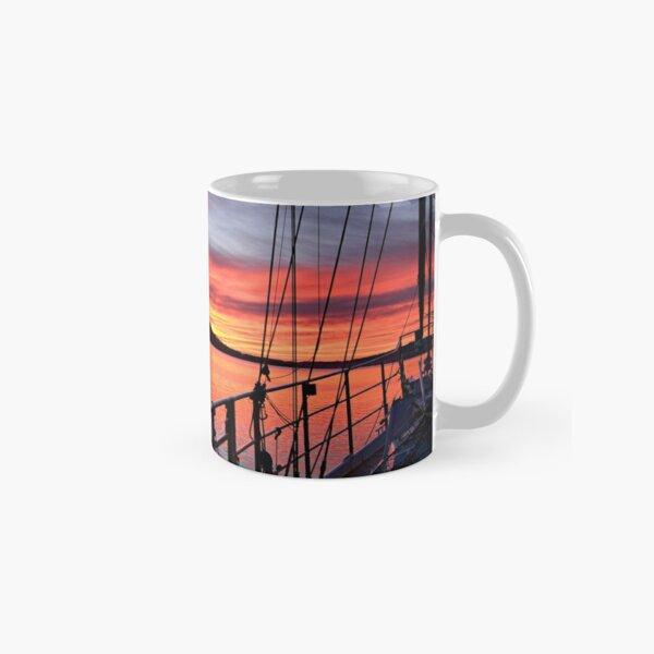 Nautical Sailboat Sunrise. Photo Art. Classic Mug