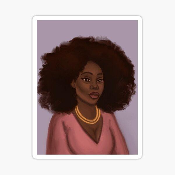 Kiara, African American Art, Black woman illustration Sticker