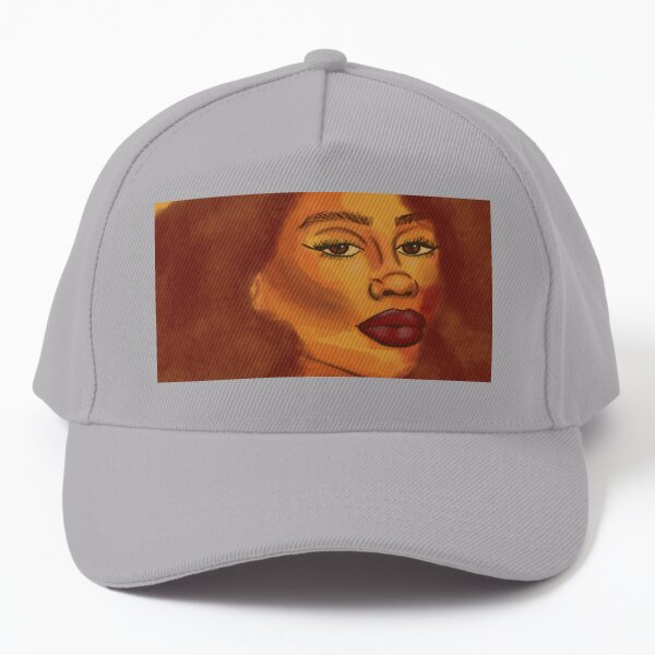 Sunshine, African American Art, Black woman illustration Baseball Cap