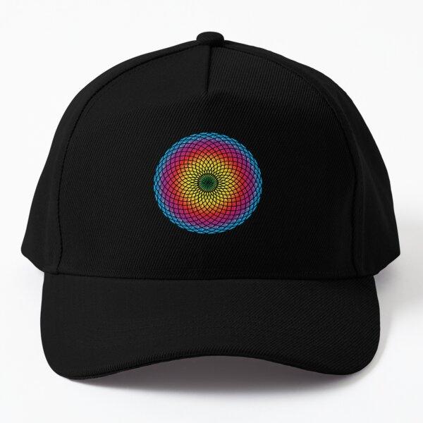 Sacred Spiral Iridescent Flower Baseball Cap