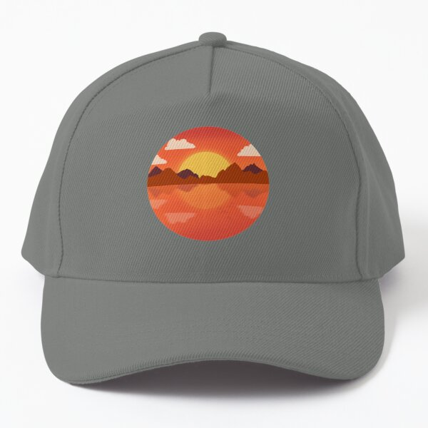 Scenery sunset mountains Baseball Cap