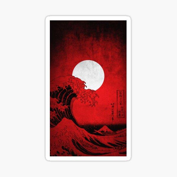 Red Waves  Sticker