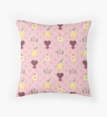 KH Destiny Trio Pattern - Pink Throw Pillow