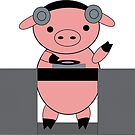 DJ Piggy Pig by ValeriesGallery