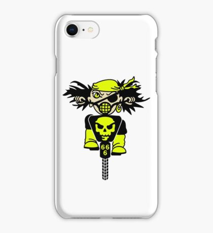 BMX Biker Pirate VRS2 iPhone Case/Skin