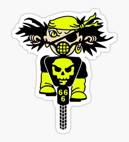 BMX Biker Pirate VRS2 Sticker