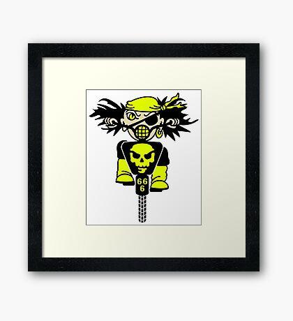 BMX Biker Pirate VRS2 Framed Print