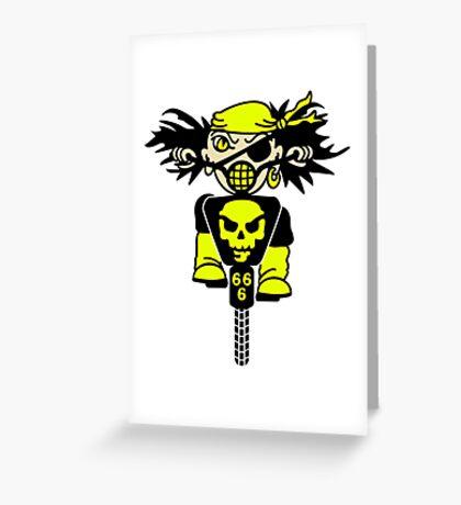 BMX Biker Pirate VRS2 Greeting Card