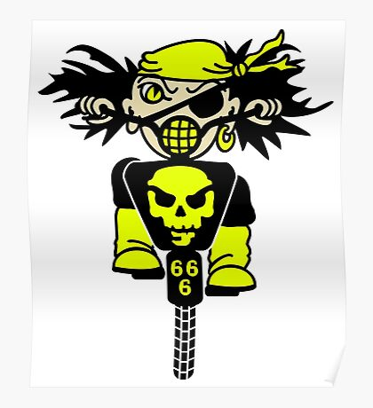 BMX Biker Pirate VRS2 Poster