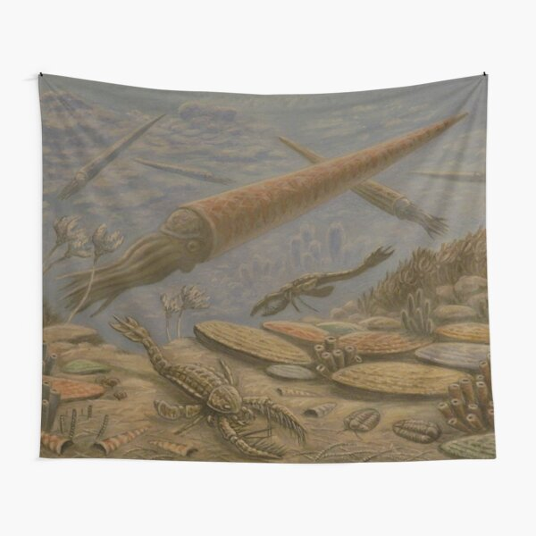 ORTHOCONE AND MEGALOGRAPTUS DINOSAURS RETRO VINTAGE Tapestry