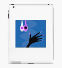Hand with manicure set : blue and purple edition iPad Case/Skin