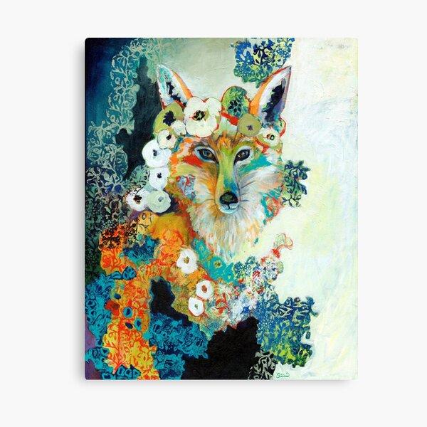 Fox in Pearls Canvas Print