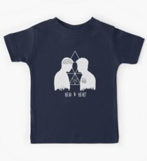 Kirk/Spock - Head/Heart  //on dark colours// Kids Clothes