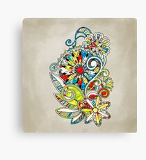 Abstract vector floral and ornamental item background Canvas Print
