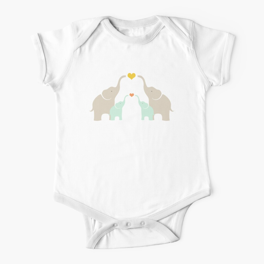 Little Elephant Family Baby One-Piece