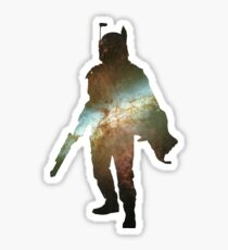 Boba Fett Galaxy Sticker