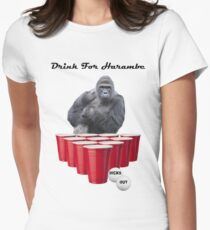 Drink for Harambe Womens Fitted T-Shirt