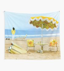 Neil Young On The Beach Wall Tapestry