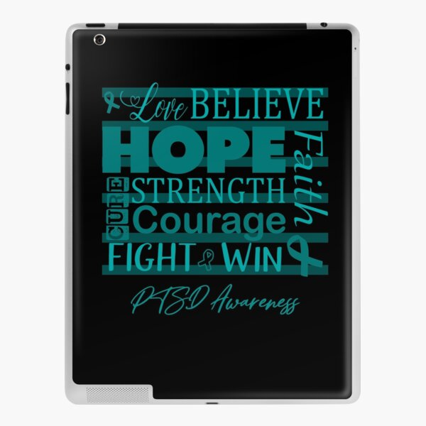 Love Believe Hope PTSD Awareness iPad Skin