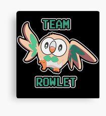 Team Rowlet Canvas Print