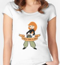 Kim Possible - Fight Like a Girl Women's Fitted Scoop T-Shirt