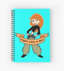 Kim Possible - Fight Like a Girl Spiral Notebook