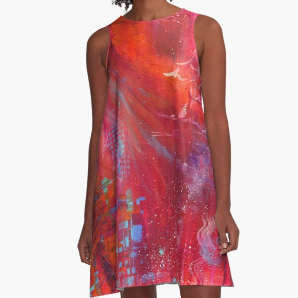 Depths of the Heart A-Line Dress