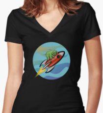 Space Tardigrade: Intrepid Explorer Fitted V-Neck T-Shirt