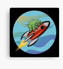 Space Tardigrade: Intrepid Explorer Canvas Print