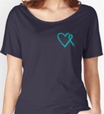 Heart Ribbon Women's Relaxed Fit T-Shirt