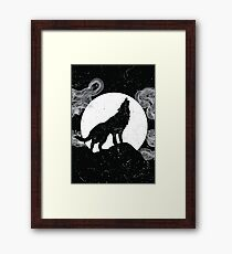 Wolf Silhouette Framed Print