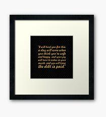 "I will hurt... ""Tyrion Lannister"" (Square) Framed Print"