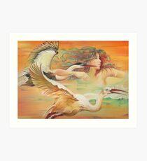 """""""Dancing with Birds"""" Art Print"""