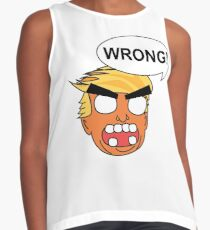 angry zombie trump is wrong again Contrast Tank