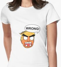 angry zombie trump is wrong again Women's Fitted T-Shirt