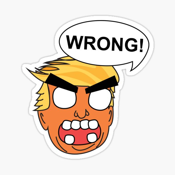 angry zombie trump is wrong again Sticker
