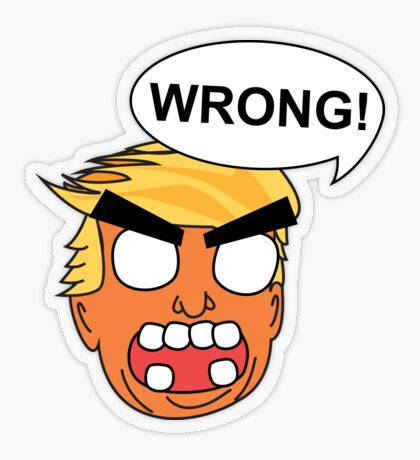 angry zombie trump is wrong again Transparent Sticker