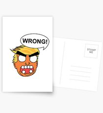 angry zombie trump is wrong again Postcards